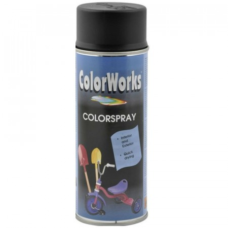 Colorspray 400ml Svart Halvblank