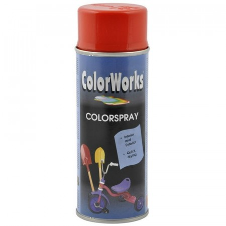 Colorspray 400ml Orangerød