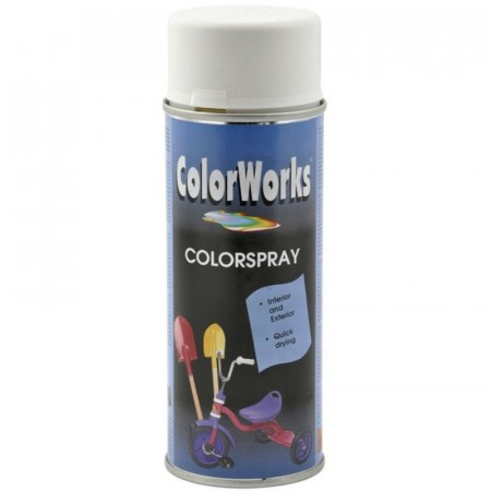 Colorspray 400ml Hvit Halvblank