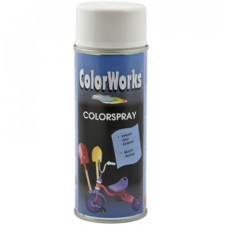 Colorspray 400ml Hvit Blank
