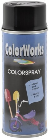 Colorspray 400ml Svart Blank
